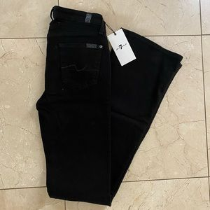 7 For All Mankind Black Jeans Brand New